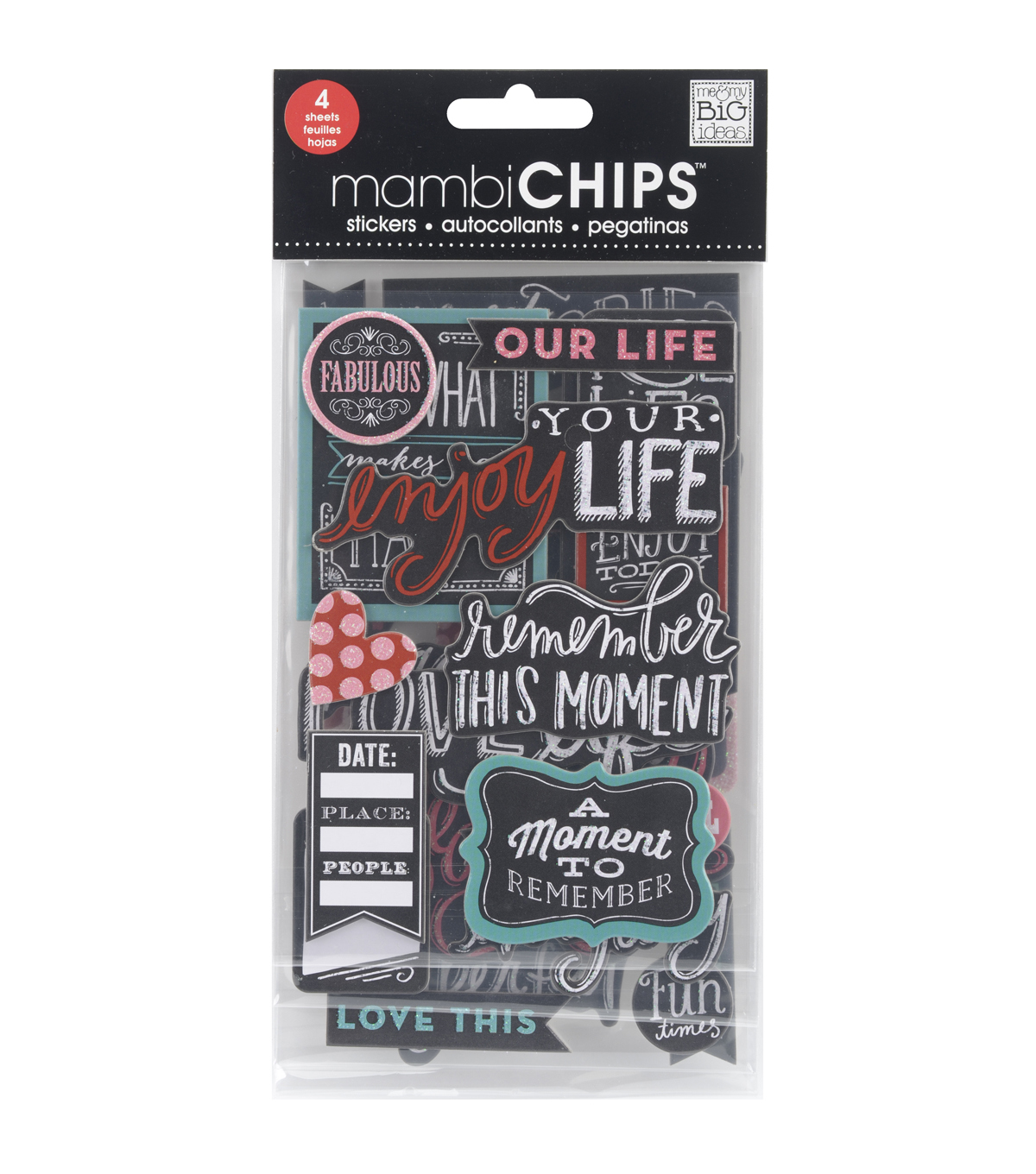 Me & My Big Ideas Chipboard Stickers-Chalk-Fabulous
