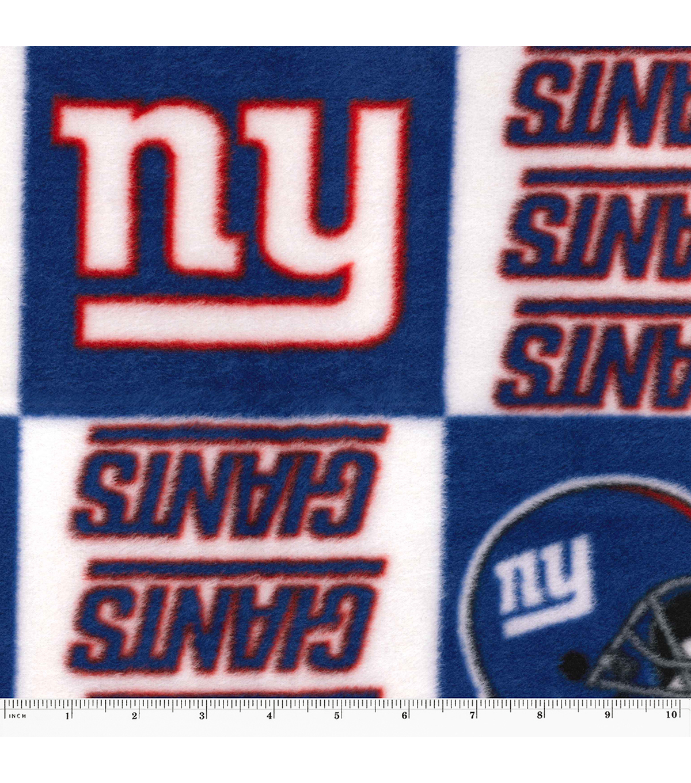 New York Giants Fleece Fabric Logo