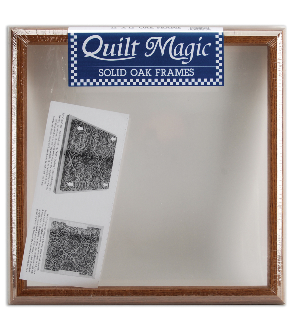 Quilt Magic Solid Oak Frame 12\u0022X12\u0022