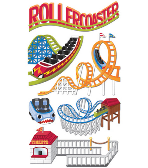 Jolee\u0027s Boutique Le Grande Dimensional Sticker-Roller Coasters