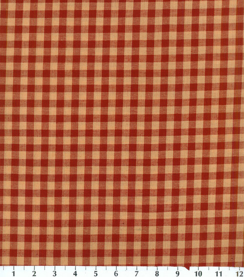 Homespuns Cotton Fabric 44\u0022-Red Check
