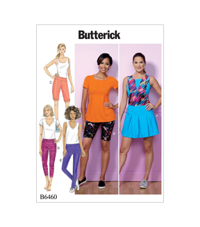 Butterick Pattern B6460 Misses\u0027 Skort, Shorts & Pants-Size 4-14