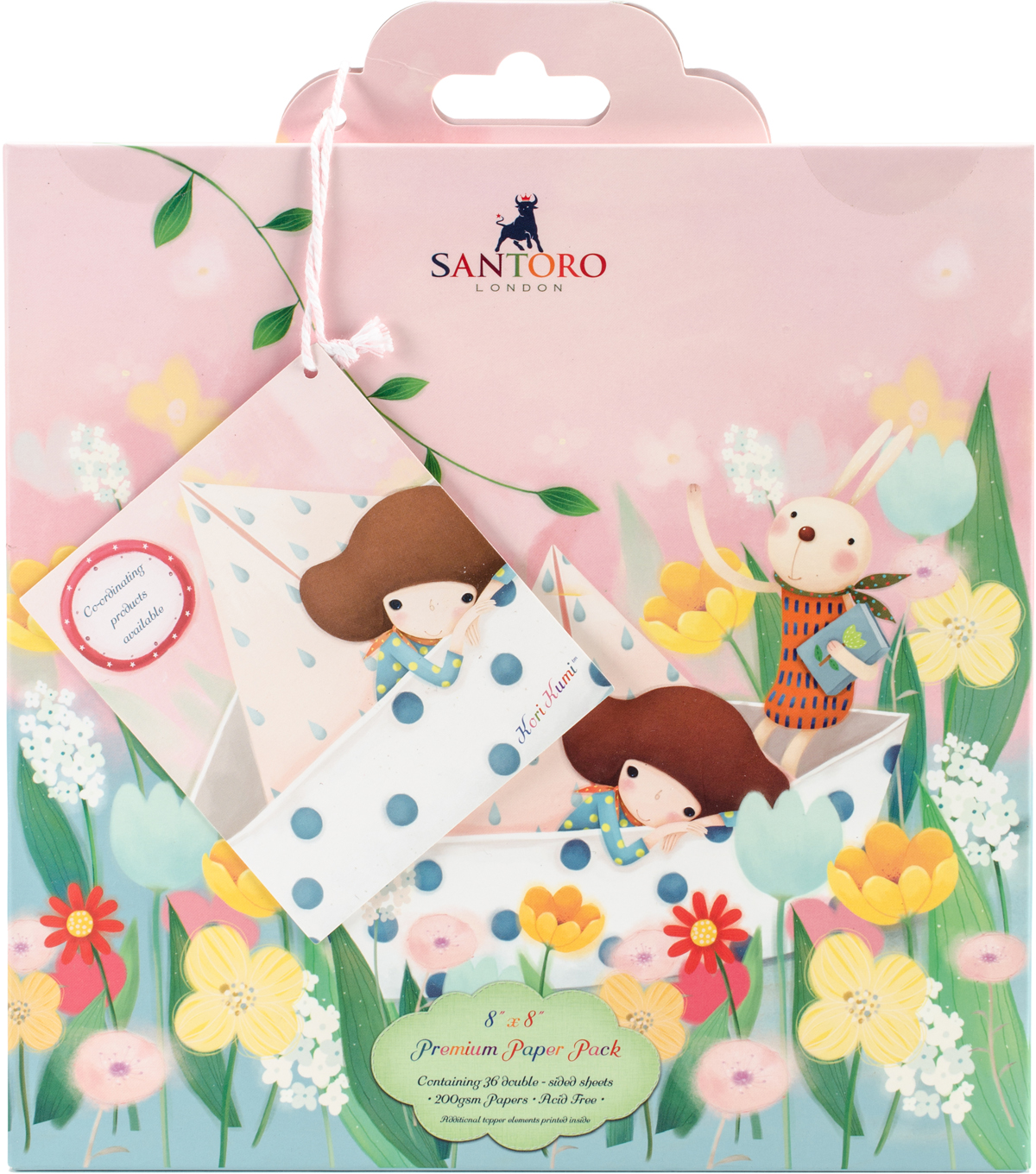 Santoro Double-Sided Paper Pack 8\u0022X8\u0022-Kori Kumi II, 24 Designs