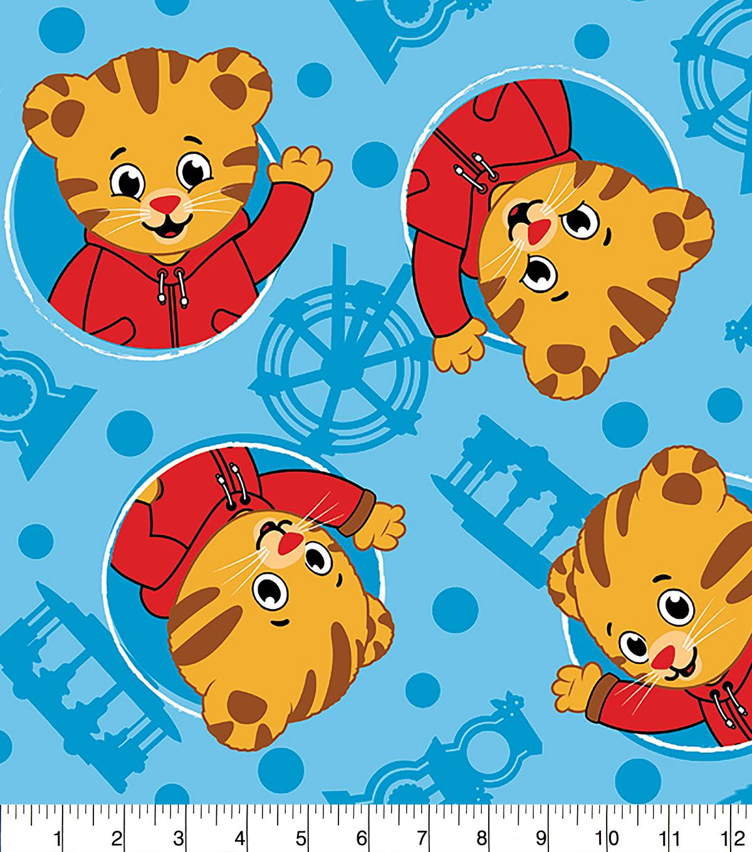 Daniel Tiger No-Sew Fleece Throw-Tigertastic  f6d34bf51bc
