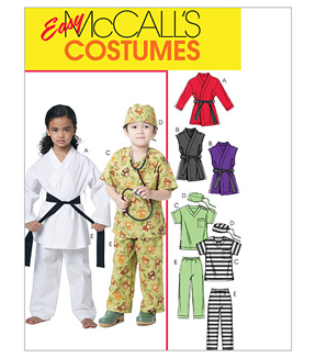 McCall\u0027s Pattern M6184 Childrens\u0027 Karate and Scrubs Costumes, Size 2-3-4