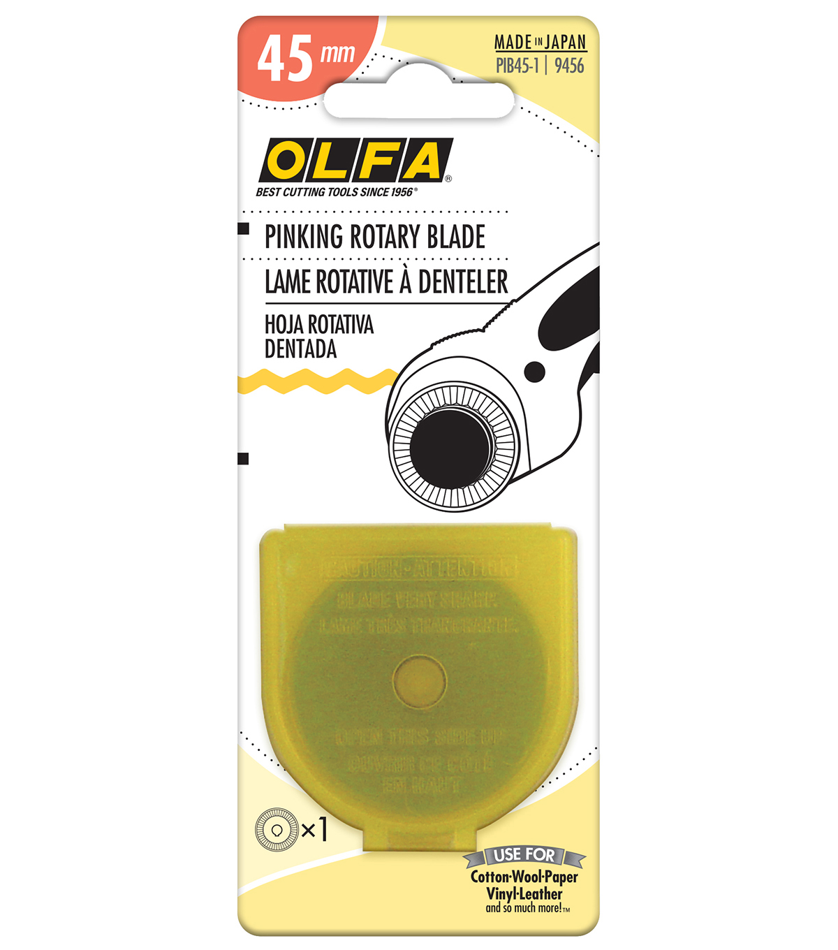 Olfa Rotary Pinking Spare Blade-45mm