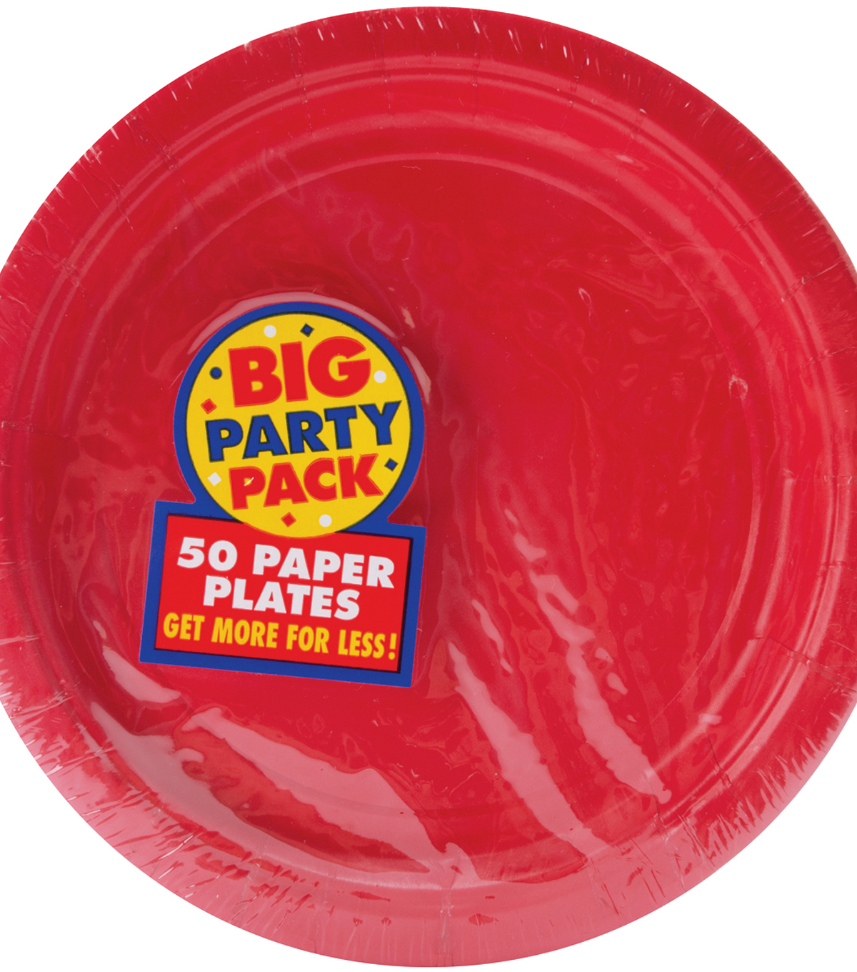 Amscan Big Party Pack 7\u0027\u0027 Lunch Paper Plates-60PK, White