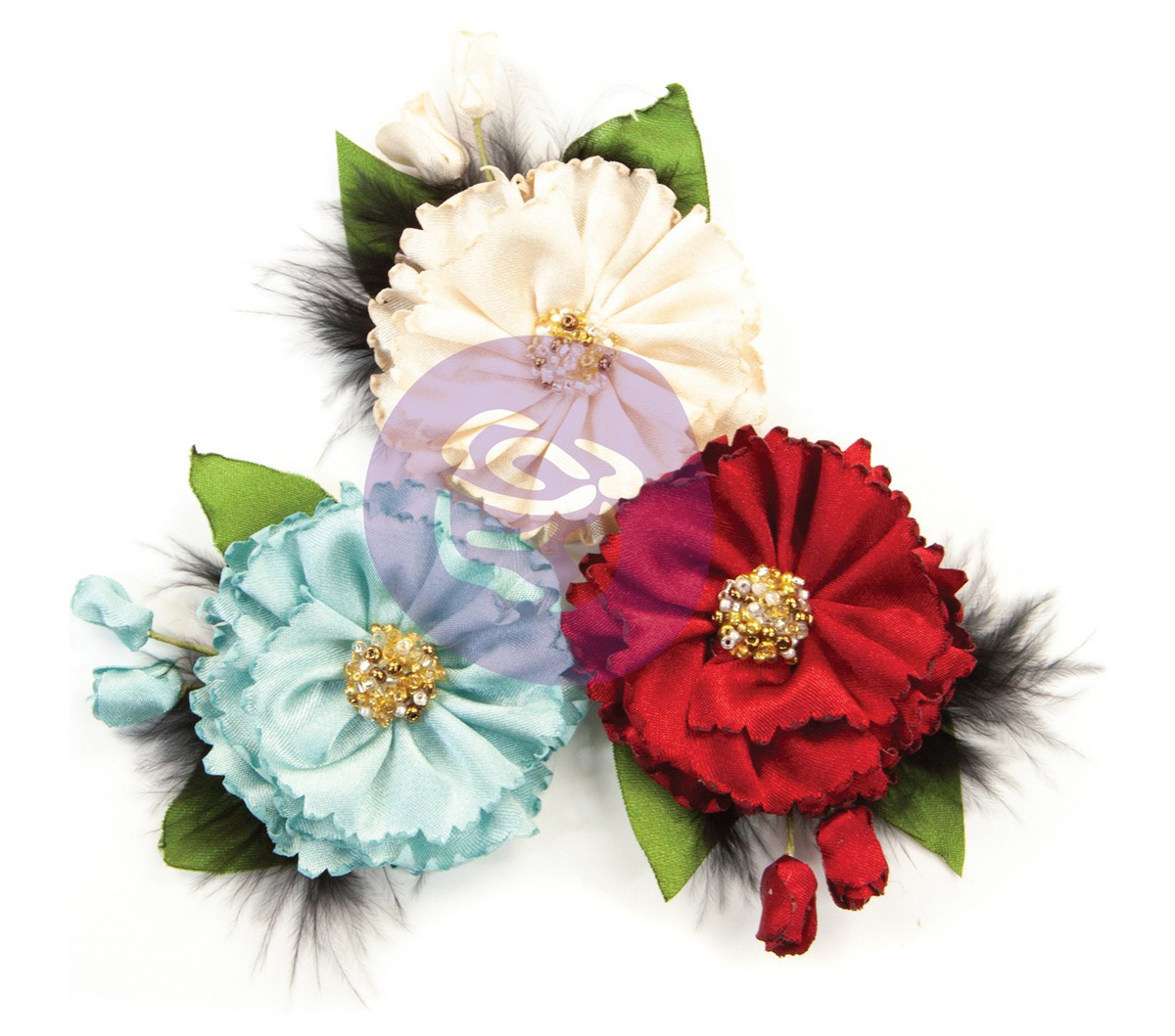 Prima Marketing Fabric Flowers-Midnight Elegance/Midnight Garden