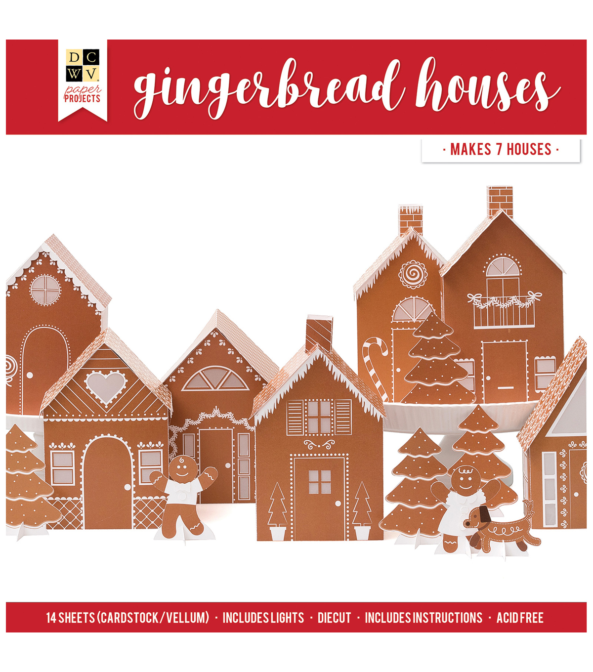 DCWV Paper Projects-Gingerbread Houses