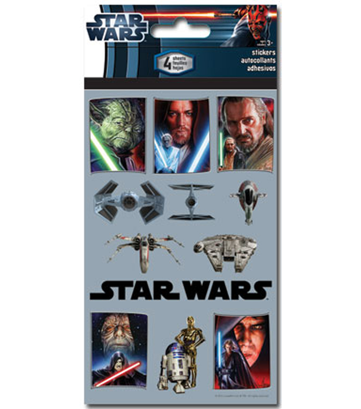 Starwars 4 Sheet Sticker