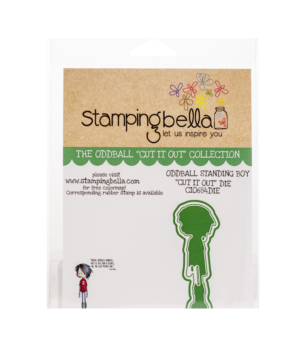 Stamping Bella 1.38\u0027\u0027x3.75\u0027\u0027 Cut it Out Die-Oddball Standing Boy