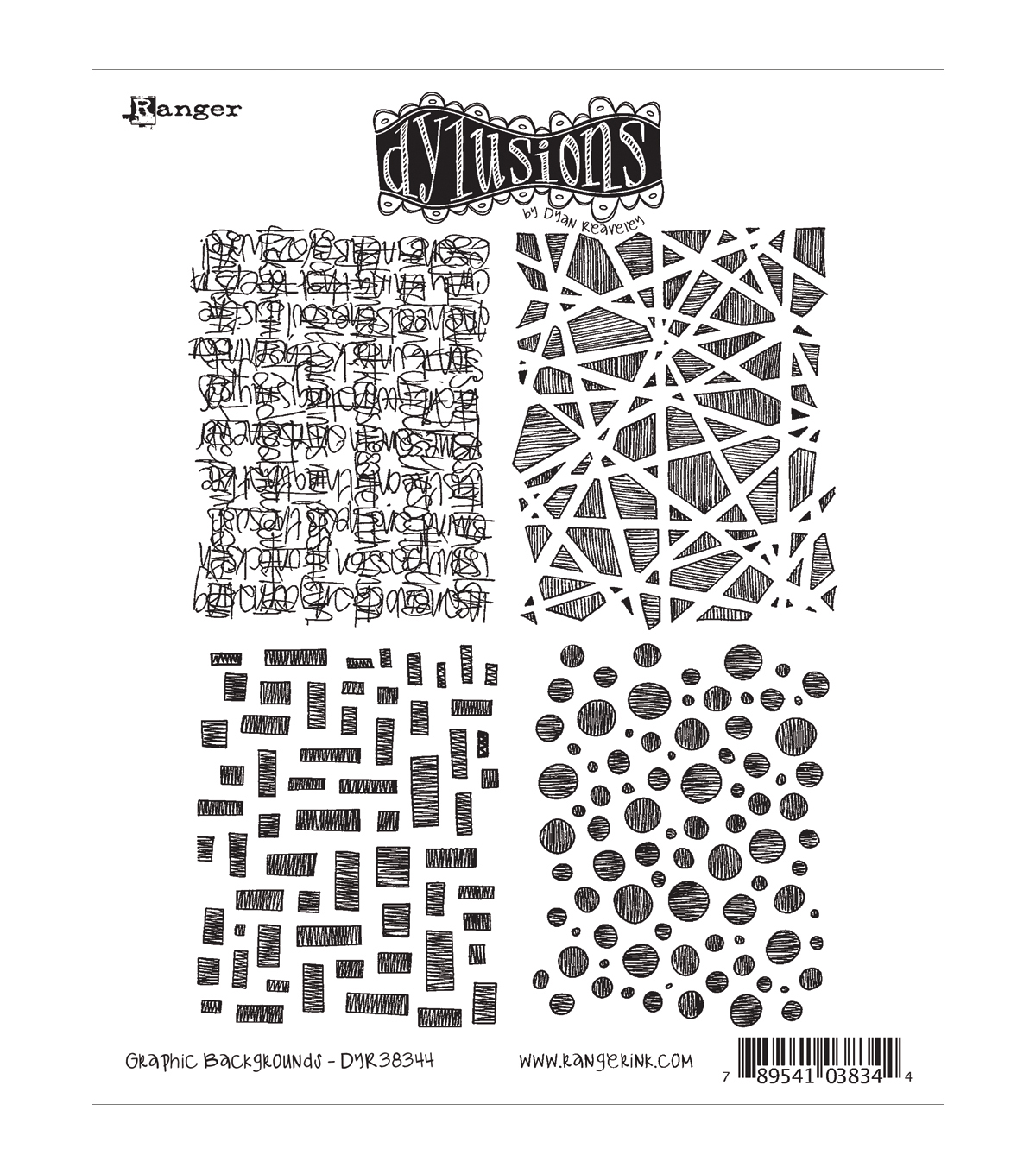 Ranger Dyan Reaveley Dylusions Cling Stamp Graphic Backgrounds