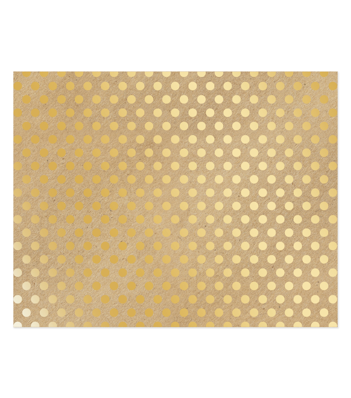 American Crafts 22\u0027\u0027x28\u0027\u0027 Poster Board-Gold Dots on Kraft