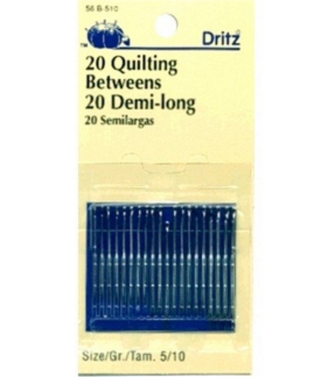 Dritz Quilting Betweens Hand Needles 20pcs Size 5/10, Size 5/10 20/pkg