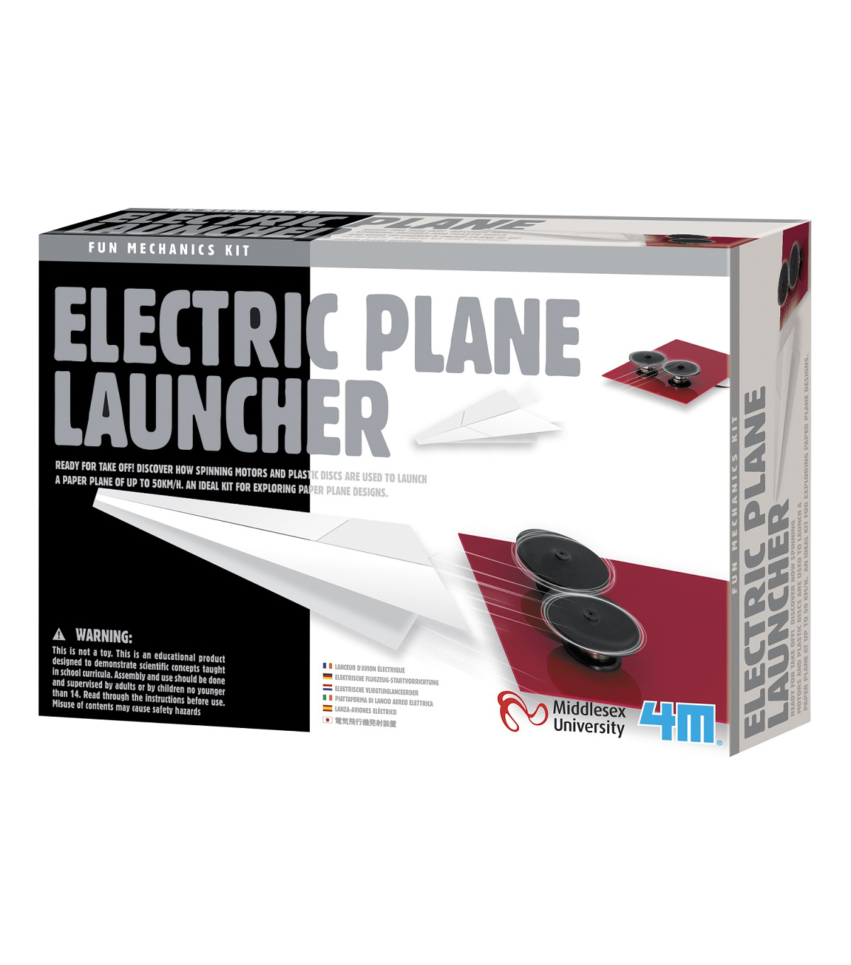 4M Fun Mechanics Electronic Paper Plane Launcher Kit