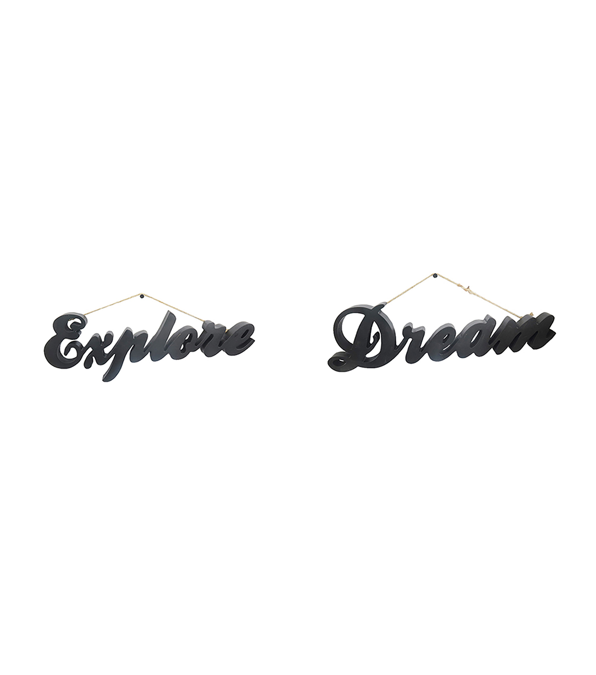 Hudson Finds Explore & Dream Script Wall Decor