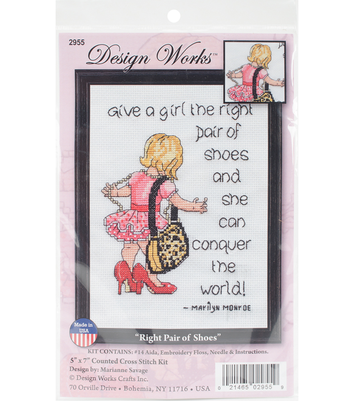 Design Works Crafts 5\u0027\u0027x7\u0027\u0027 Counted Cross Stitch Kit-Right Pair of Shoes