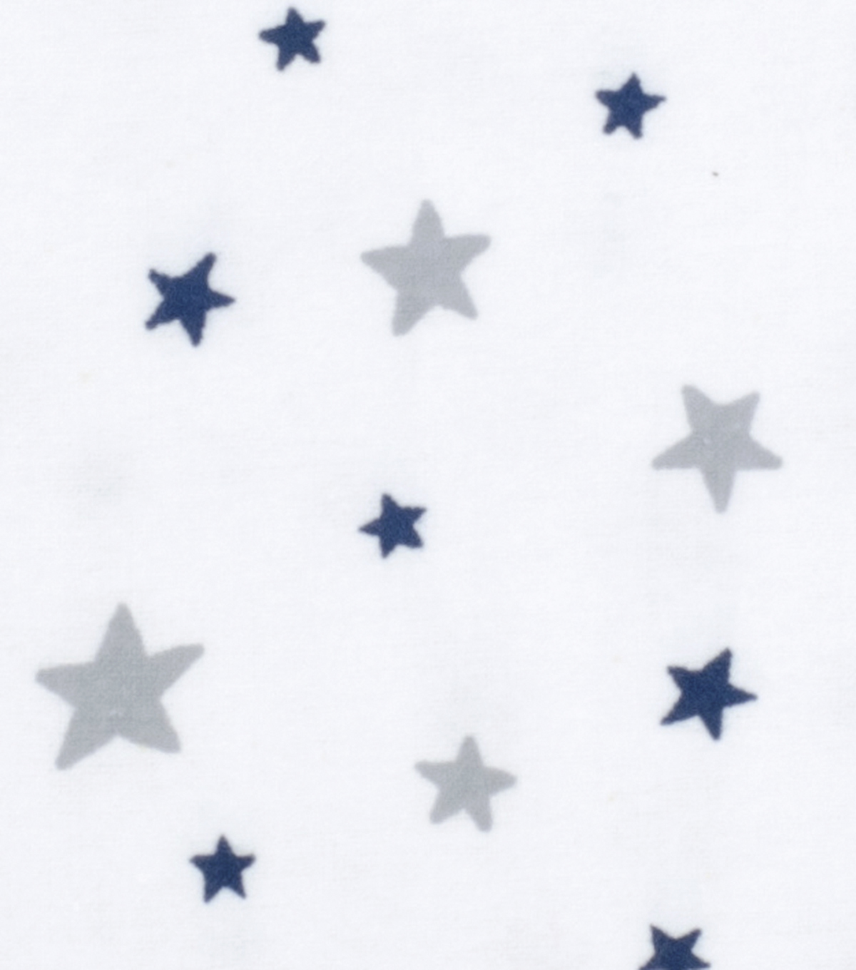 Nursery Flannel Fabric-White Good Night Stars