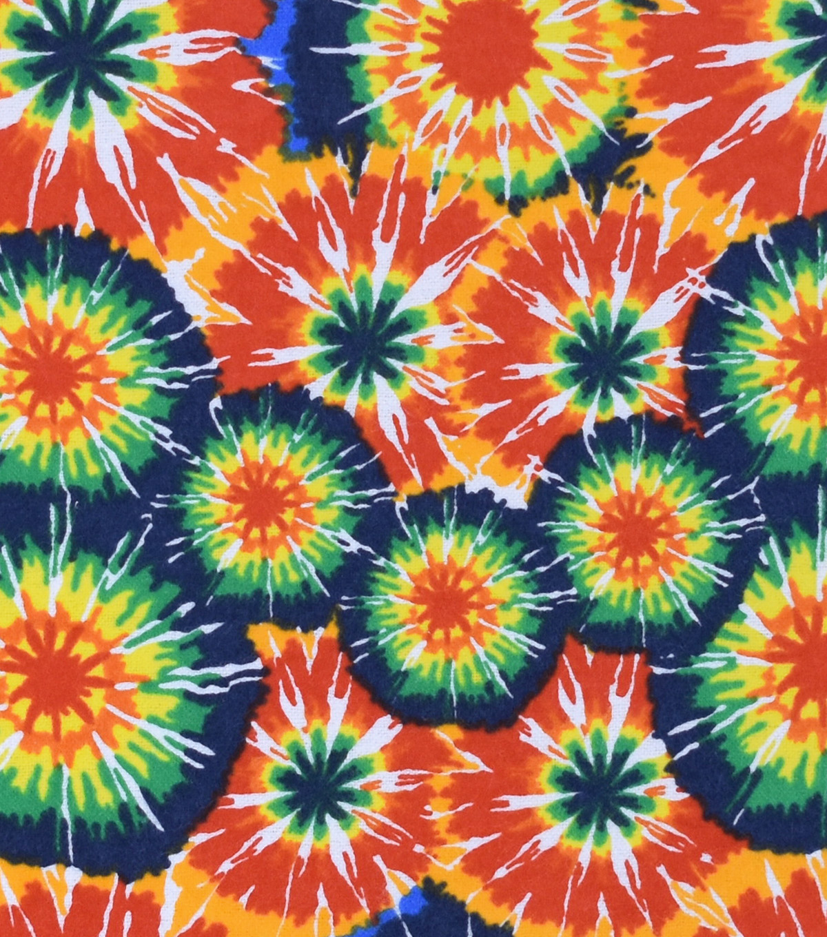 Snuggle Flannel Fabric -Classic Circle Tie Dye