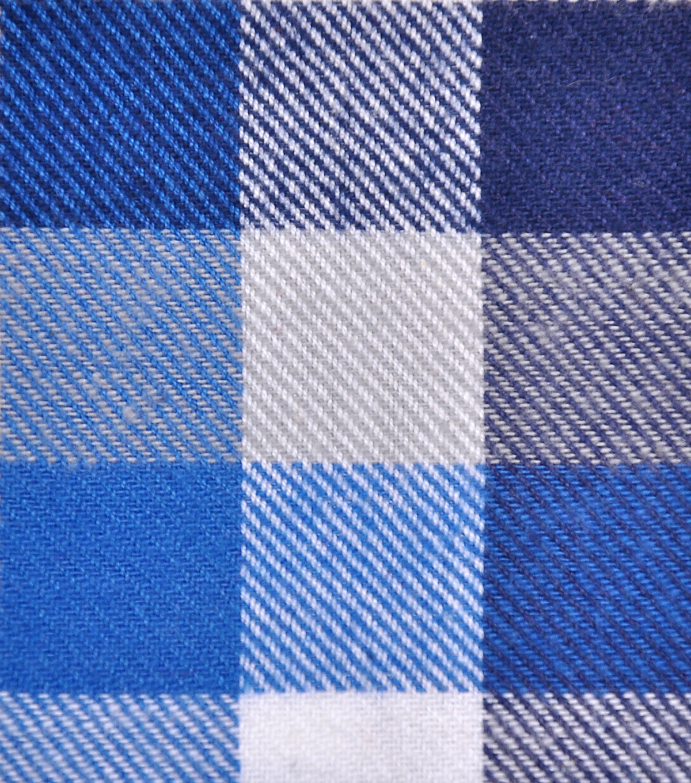1887f4c5494 Cotton Shirting Fabric 42''-Blue & White Checked