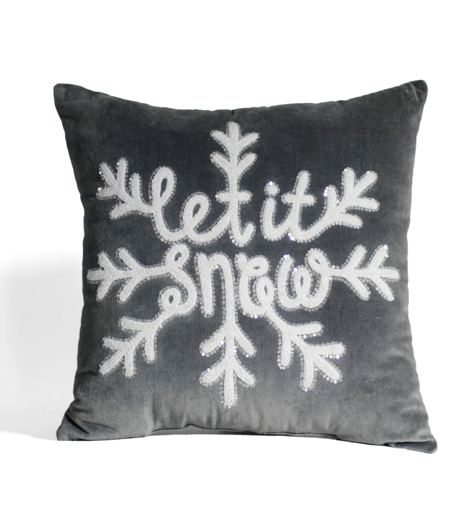 Handmade Holiday Christmas 18\u0027\u0027 Pillow-Let it Snow