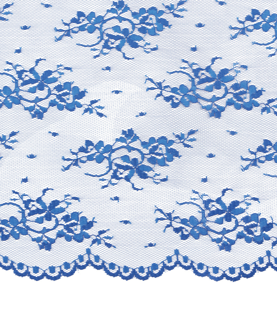 Casa Collection Chantilly Lace Fabric -Solids, Directoire Blue