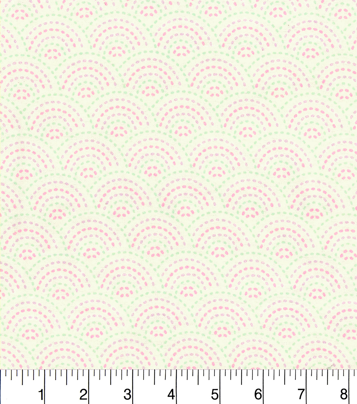 Snuggle Flannel Fabric 42\u0022-Dotted Scallop Cream