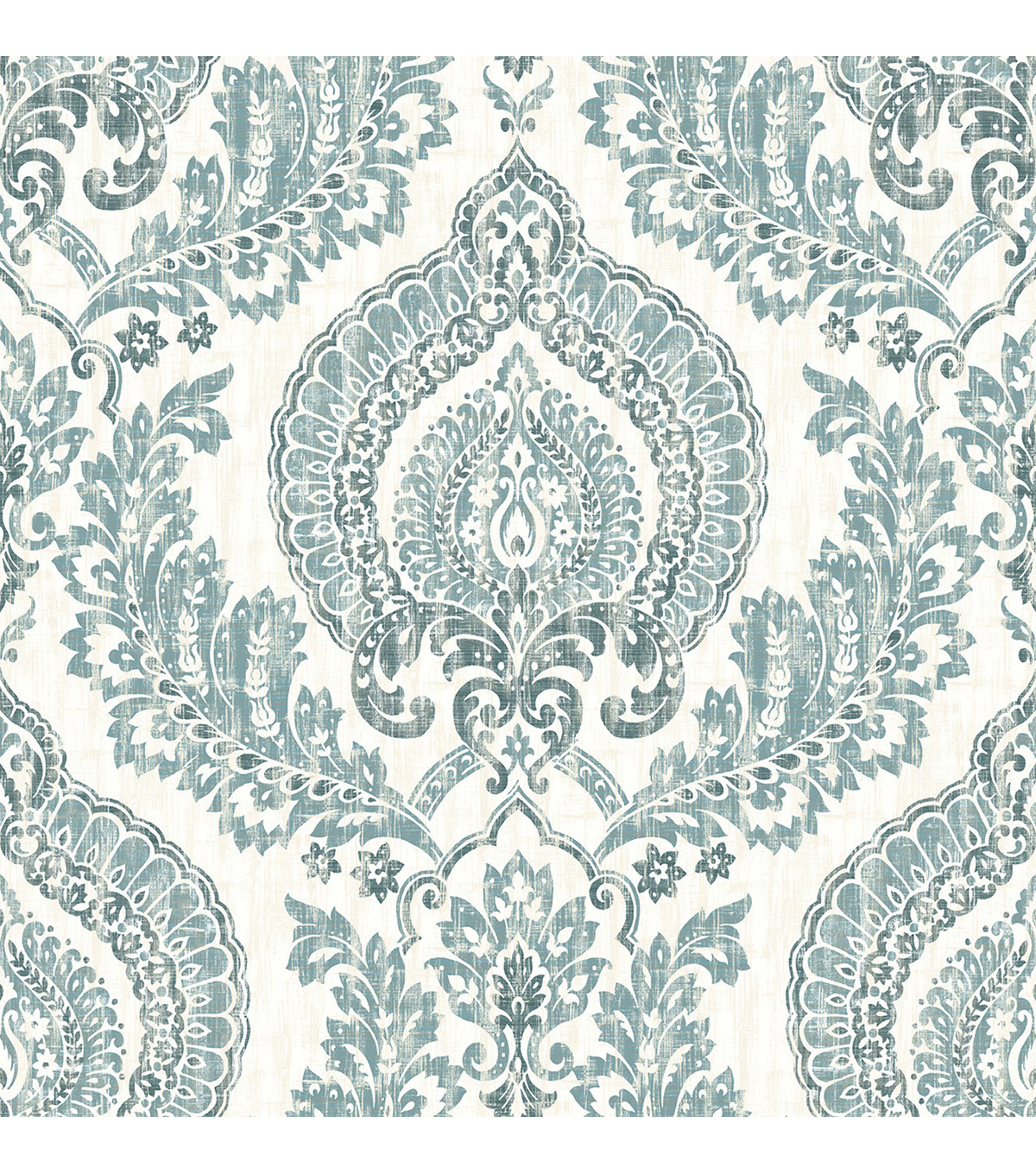 Wallpops Nuwallpaper Peel & Stick Wallpaper-Navy Kensington Damask