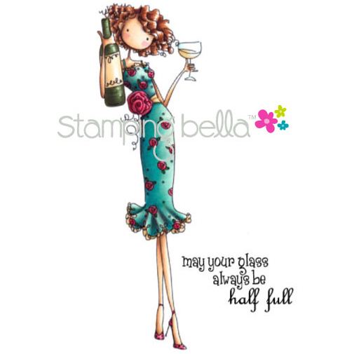 Stamping Bella Cling Rubber Stamp Uptown Girl Opal The Optimist