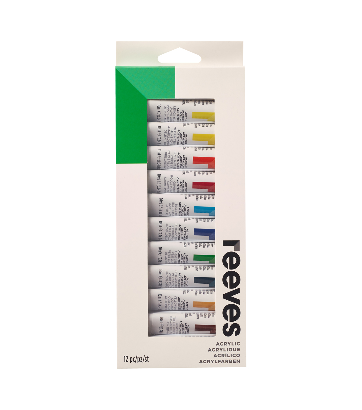 Reeves Acrylic Paint Set 12ml 12Pk