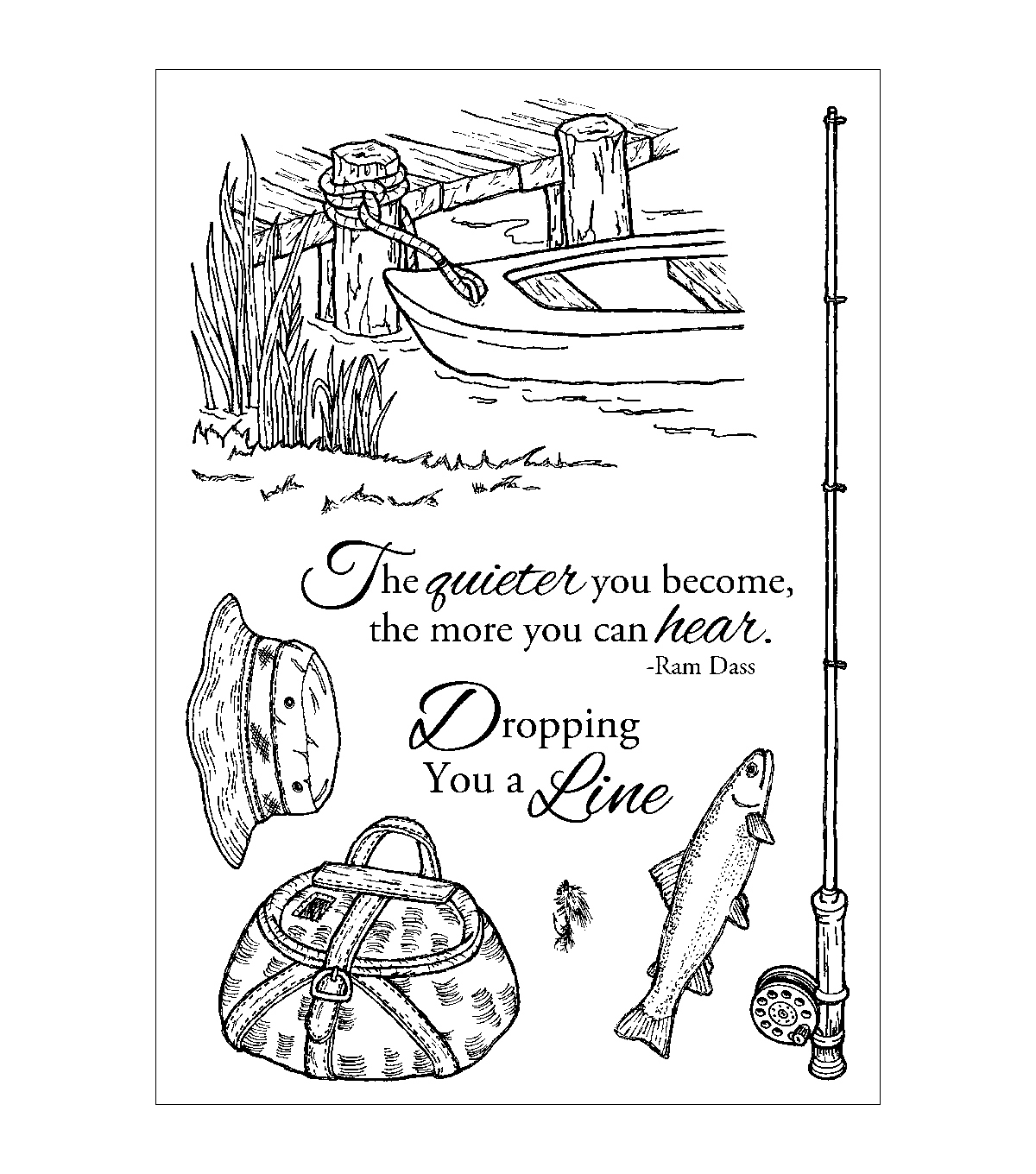 Inky Antics Clear Stamp Set-Fishing Favorites