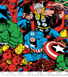 Marvel Comics Fleece Fabric 58\
