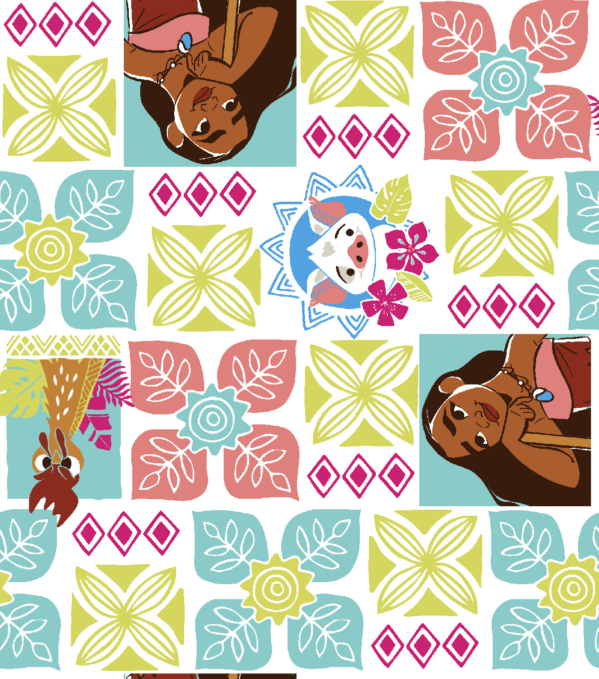 Disney Moana Flannel Fabric -Island Days