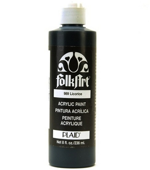 FolkArt Acrylic Paint-Black Licorice