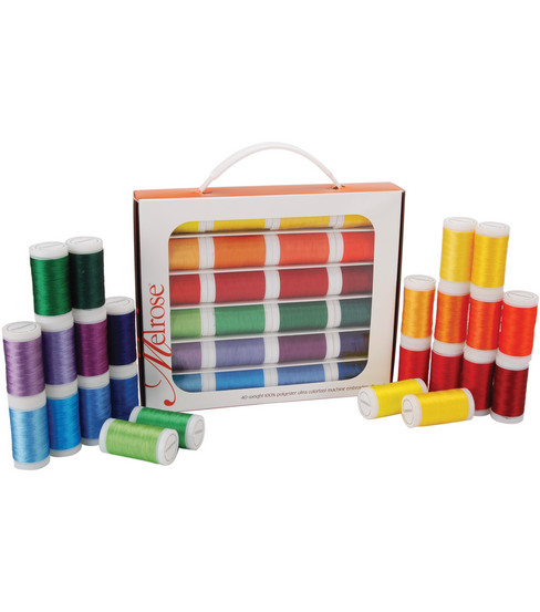 Melrose Trilobal Polyester Thread Assortment 24 Colors-Brights