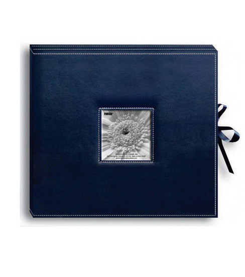 Pioneer Leatheretter D-Ring Album, Navy Blue