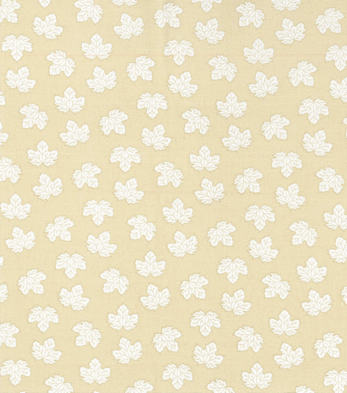 Harvest Cotton Fabric 44\u0022-Mini Tossed Leaves on Cream