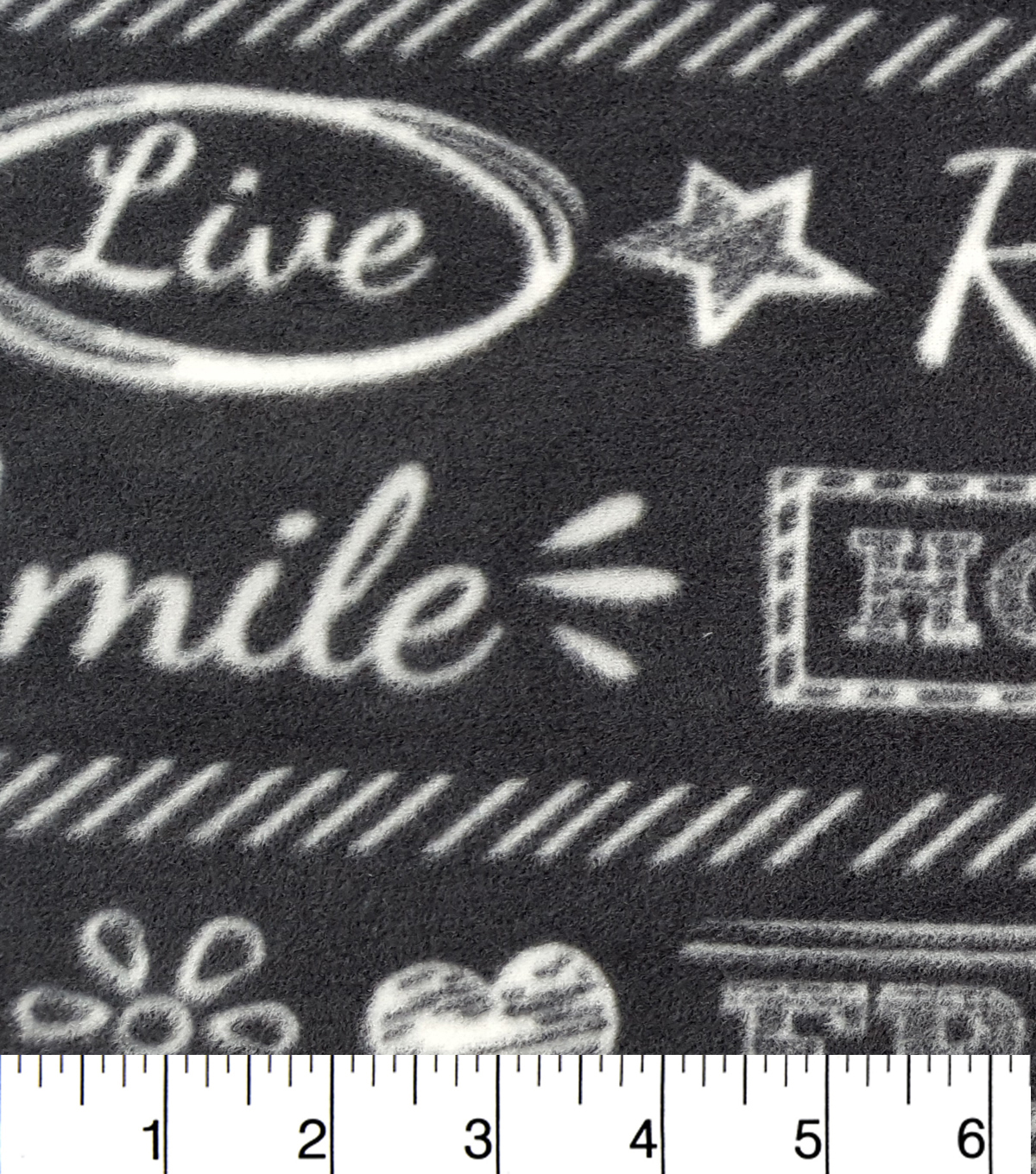 Anti-Pill Fleece Fabric 57\u0022-Chalkboard Words