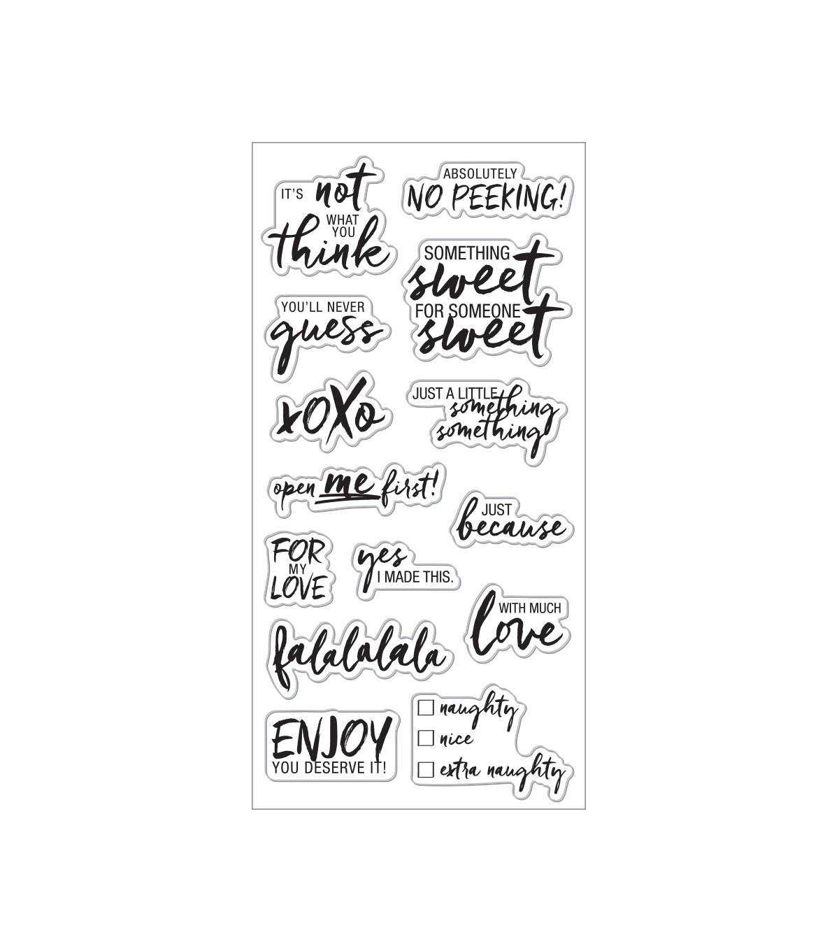 Fiskars Clear Stamps-Tag Lines