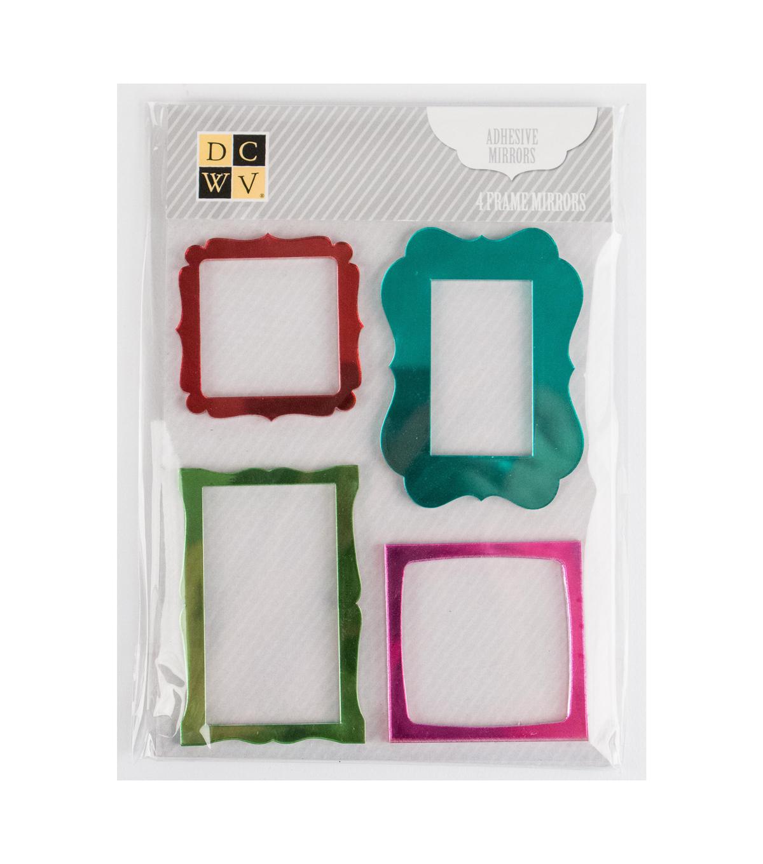 DCWV Mini Adhesive Mirrors-Colored Frames | JOANN