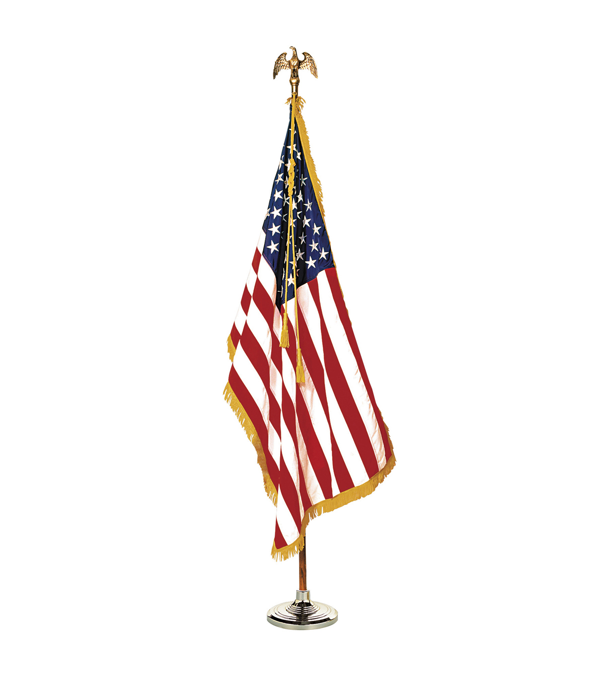 Annin Flagmakers Colonial Nyl-Glo Complete Mounted U.S. Flag Set