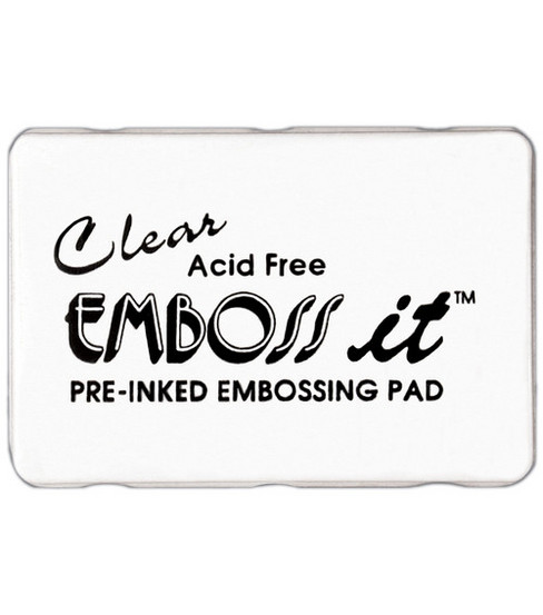 Inkssentials Emboss It Ink Pad-Clear