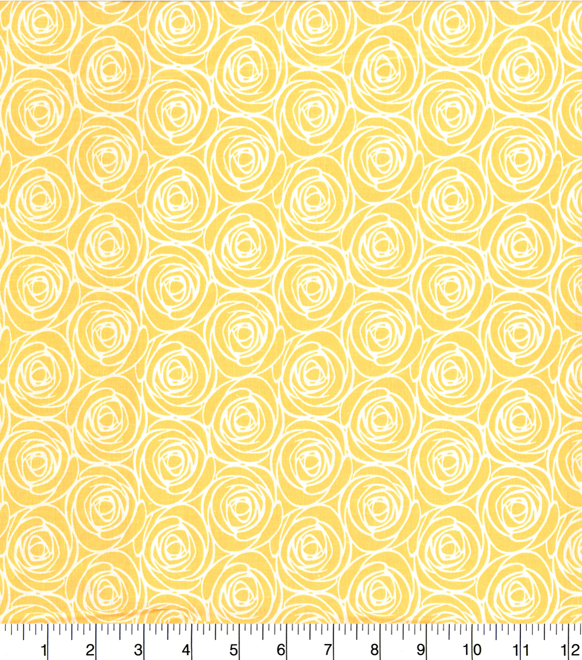 Quilter\u0027s Showcase Cotton Fabric -Floral Outline Yellow