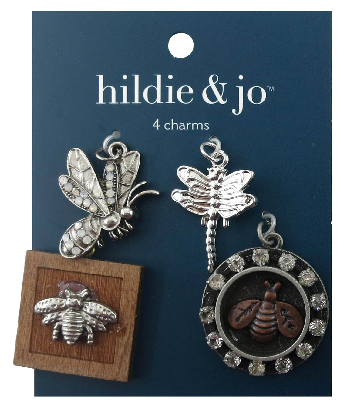 hildie & jo 4 Pack Bugs Silver Charms