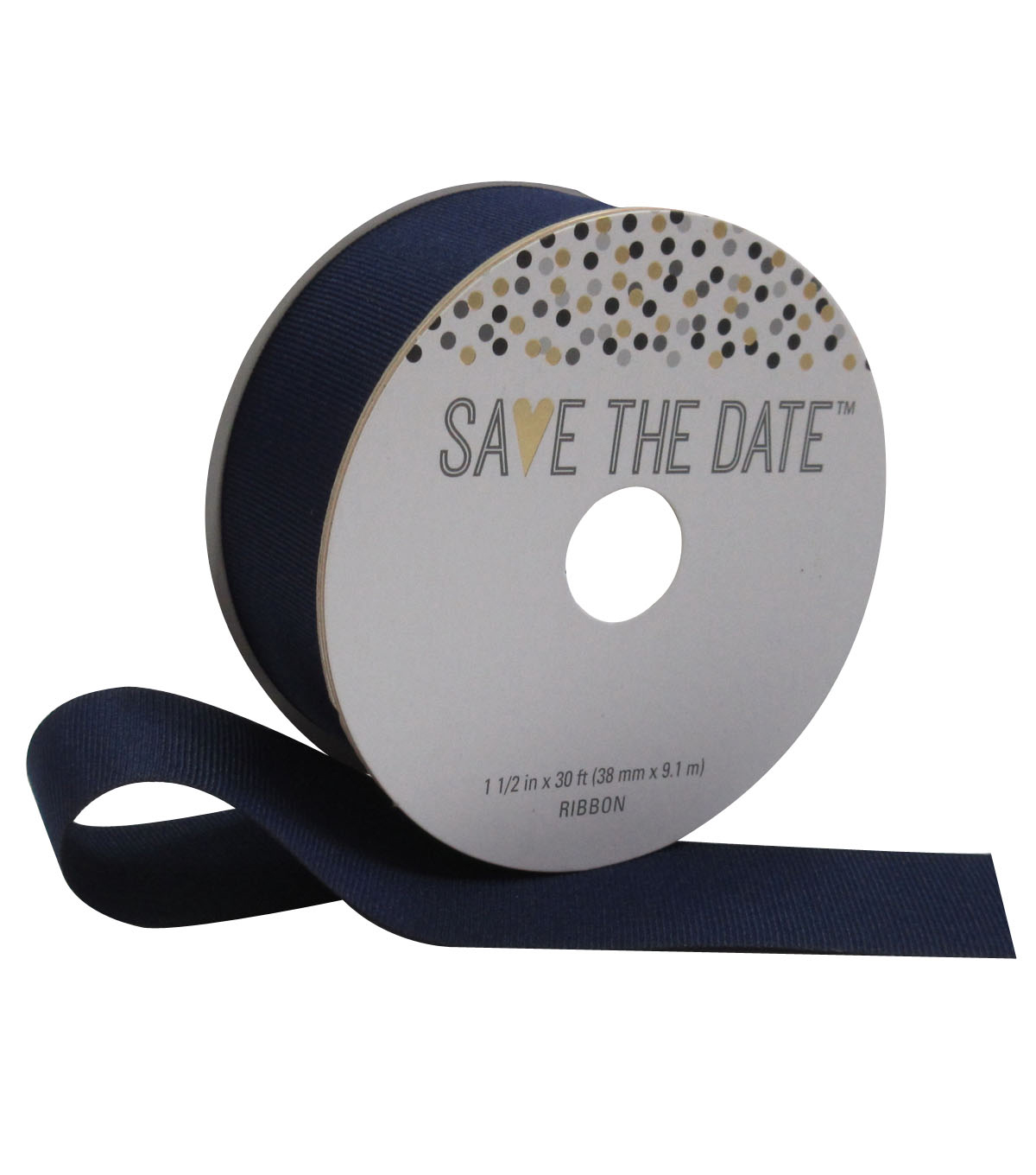 Save the Date 1.5\u0027\u0027 X 30\u0027 Ribbon-Navy Grosgrain