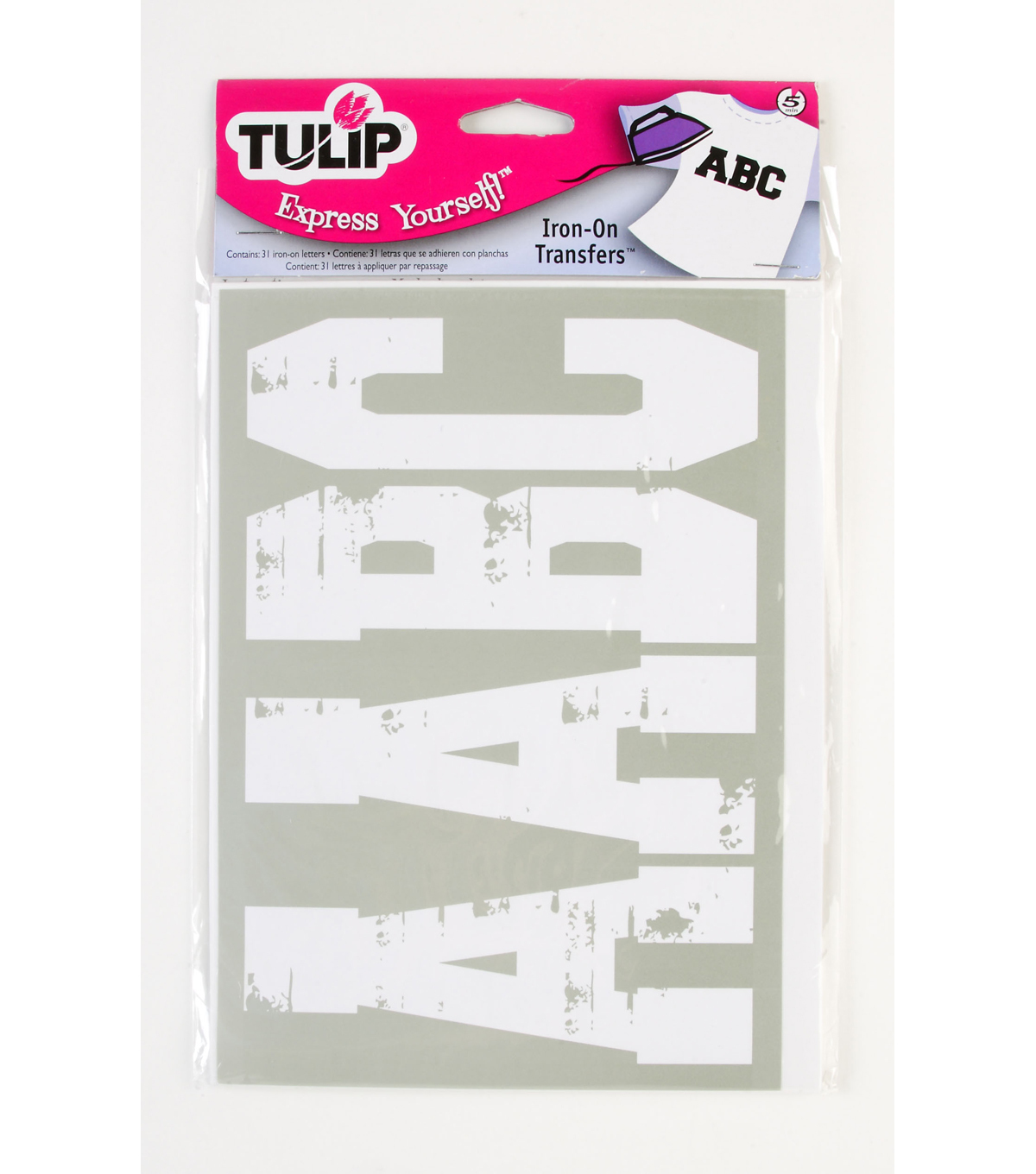 Tulip Express Yourself Soft Flex Distressed Letters Capture-3\u0027\u0027