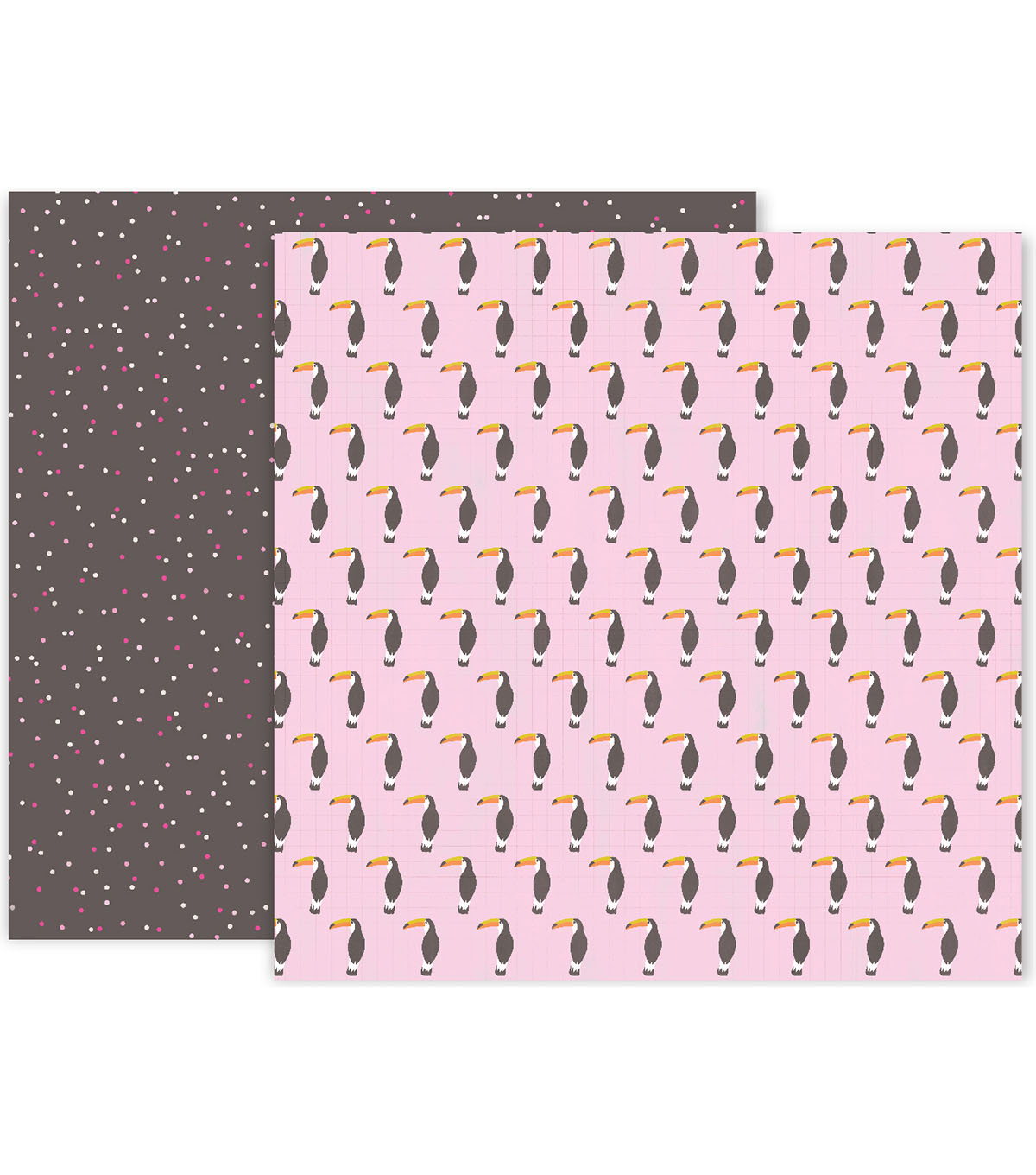 Pink Paislee Confetti Wishes 25 pk 12\u0027\u0027x12\u0027\u0027 Double-Sided Cardstock-#11