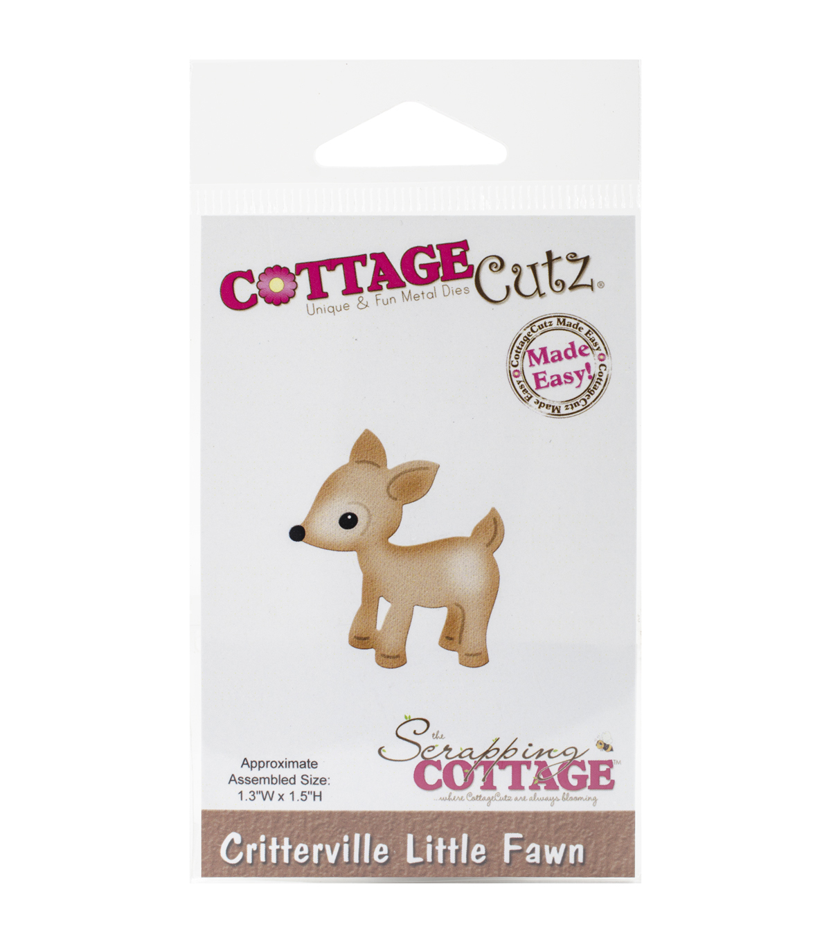 CottageCutz Critterville Little Fawn Die