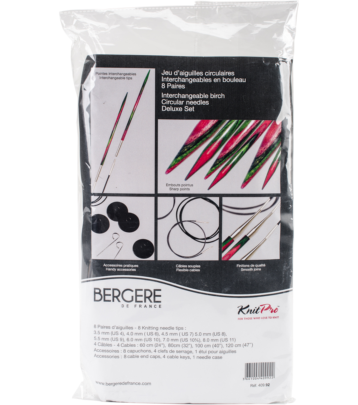 Bergere De France Interchangeable Circular Needle Set-8/Pkg