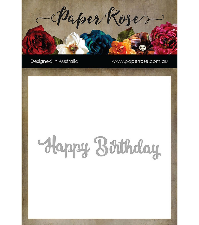 Paper Rose 2 Pk Metal Dies Happy Birthday Joann